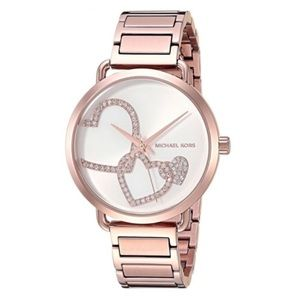 Michael Kors Portia Rose Gold Tone Watch MK3825